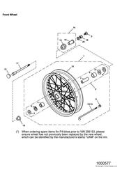 triumph motorcycle  SCRAMBLER triumph parts section Front Wheel