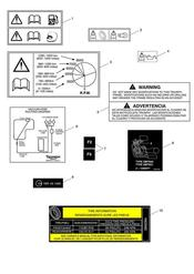 triumph motorcycle  Speed Triple VIN 461332 to 735437 triumph parts section Warning Labels