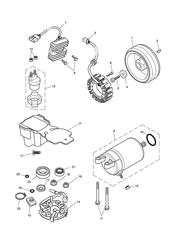 triumph motorcycle  SPEEDMASTER EFI triumph parts section Starter amp Alternator