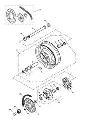 triumph motorcycle  SPEEDMASTER EFI triumph parts section Rear Wheel amp Final Drive gt 469049