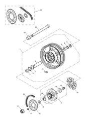 triumph motorcycle  SPEEDMASTER EFI triumph parts section Rear Wheel amp Final Drive 469050 gt