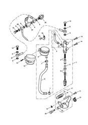 triumph motorcycle  SPEEDMASTER EFI triumph parts section Rear Brake Master Cylinder Reservoir amp Pedal gt 469049