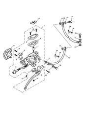 triumph motorcycle  SPEEDMASTER EFI triumph parts section Front Brake Master Cylinder amp Hoses