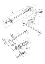 triumph motorcycle  SPEEDMASTER EFI triumph parts section Gear Selectors amp Pedal 469050 gt