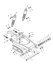 triumph motorcycle  SPEEDMASTER EFI triumph parts section Rear Suspension