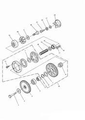 triumph motorcycle  SPRINT CARBS triumph parts section Alternator Starter Drive Gears