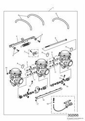 triumph motorcycle  SPRINT CARBS triumph parts section Carburettors All Markets Except US CAL ENG NO 55881