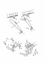triumph motorcycle  SPRINT CARBS triumph parts section Exhaust System SprintSprint Sport 29156