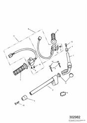 triumph motorcycle  SPRINT CARBS triumph parts section Handlebars and Switches