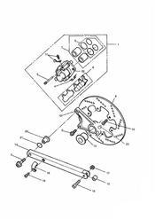 triumph motorcycle  SPRINT CARBS triumph parts section Rear Brake Disc and Caliper Sprint