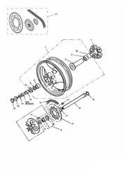triumph motorcycle  SPRINT CARBS triumph parts section Rear WheelFinal Drive Sprint   16921