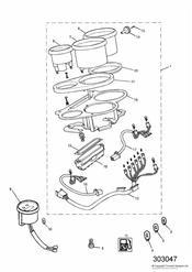 triumph motorcycle  SPRINT CARBS triumph parts section Instruments