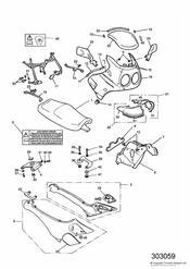 triumph motorcycle  SPRINT CARBS triumph parts section Bodywork  Cockpit 16922