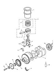 triumph motorcycle  SPRINT RS > 139276 triumph parts section CrankshaftConn RodPistons and Liners