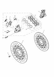 triumph motorcycle  SPRINT RS > 139276 triumph parts section Front Brake Caliper and Disc