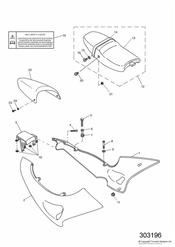 triumph motorcycle  SPRINT RS > 139276 triumph parts section Bodywork  Side Panels