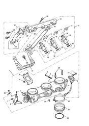 triumph motorcycle  SPRINT RS 139277 > triumph parts section ThrottlesInjectors and Fuel Rail gt 207554