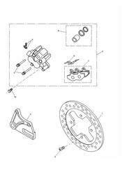triumph motorcycle  SPRINT RS 139277 > triumph parts section Rear Brake Disc and Caliper Double sided swingarm   161317