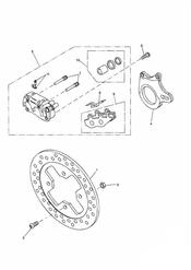 triumph motorcycle  SPRINT RS 139277 > triumph parts section Rear Brake Disc and Caliper Single sided swingarm 161318