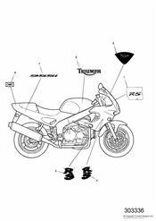 triumph motorcycle  SPRINT RS 139277 > triumph parts section Bodywork  Decals