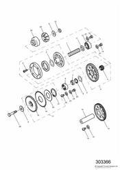 triumph motorcycle  SPRINT ST > 139276 triumph parts section Alternator Starter Gears