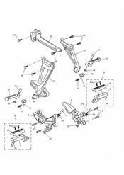 triumph motorcycle  SPRINT ST > 139276 triumph parts section Footrests amp Mountings