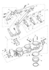triumph motorcycle  SPRINT ST 139277 > 208166 triumph parts section ThrottlesInjectors and Fuel Rail gt 207554