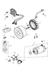 triumph motorcycle  SPRINT ST 139277 > 208166 triumph parts section AlternatorStarter