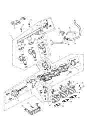 triumph motorcycle  SPRINT ST 208167 > triumph parts section Throttles Injectors and Fuel Rail
