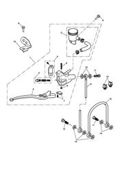 triumph motorcycle  SPRINT ST 208167 > triumph parts section Front Brake Master Cylinder amp Hoses