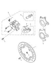 triumph motorcycle  SPRINT ST 208167 > triumph parts section Rear Brake Caliper amp Disc