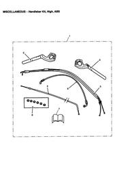 triumph motorcycle  SPRINT ST 208167 > triumph parts section Handlebar Kit High ABS