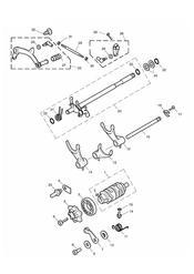 triumph motorcycle  THRUXTON 900 EFI triumph parts section Gear Selectors amp Pedal