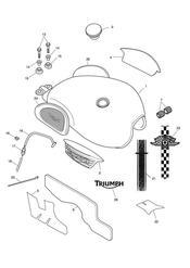 triumph motorcycle  THRUXTON 900 EFI triumph parts section Fuel Tank amp Fittings
