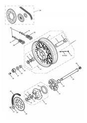 triumph motorcycle  THRUXTON 900 EFI triumph parts section Rear Wheel amp Final Drive