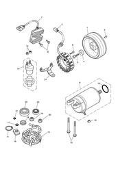 triumph motorcycle  THRUXTON 900 EFI triumph parts section Starter amp Alternator