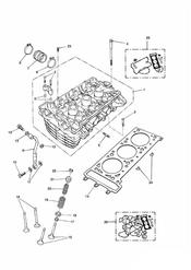 triumph motorcycle  THUNDERBIRD triumph parts section Cylinder Head and Valves