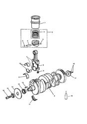 triumph motorcycle  THUNDERBIRD triumph parts section CrankshaftConn RodPistons and Liners
