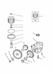 triumph motorcycle  THUNDERBIRD triumph parts section Lubrication System