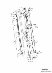 triumph motorcycle  THUNDERBIRD triumph parts section Front Forks and Yokes 92894