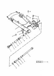 triumph motorcycle  THUNDERBIRD triumph parts section Swinging Arm 101854  Except 102063  102074 Inclusive