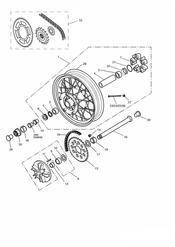 triumph motorcycle  THUNDERBIRD triumph parts section Rear WheelFinal Drive 29156