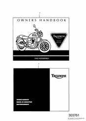 triumph motorcycle  THUNDERBIRD triumph parts section Owners Handbook 29156