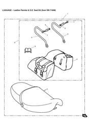 triumph motorcycle  THUNDERBIRD triumph parts section Leather PannierOE Seat Kit from VIN 71699