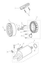 triumph motorcycle  Tiger 800 XC upto VIN: 674841 triumph parts section Starter amp Alternator  Eng No 612714 gt Except 613308  613370