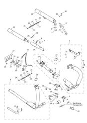 triumph motorcycle  Thunderbird Commander triumph parts section Exhaust System