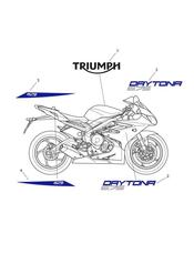 triumph motorcycle  Daytona 675 from VIN 564948 triumph parts section Decals  657157 gt