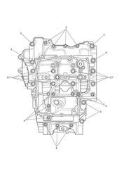 triumph motorcycle 2015 Tiger 800 XRx upto VIN: 674841 triumph parts section Crankcase Bolts
