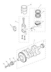 triumph motorcycle 2015 Tiger 800 XRx upto VIN: 674841 triumph parts section Crankshaft Connecting Rods Pistons amp Liners