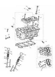 triumph motorcycle 2015 Tiger 800 XRx upto VIN: 674841 triumph parts section Cylinder Head amp Valves
